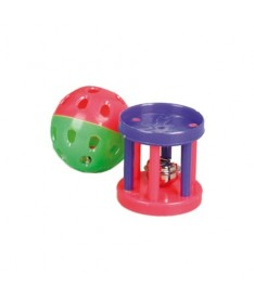 Juguete gato con cascabel bola/barril (x60)