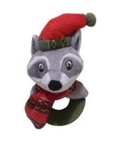 Navidad peluche mapache aro 20cm
