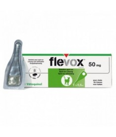 Pipeta flevox gato fipronilo 50mg 0