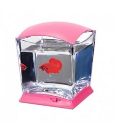 Bettera cubo con led dy-150 rosa 20.7x18.5x20.7