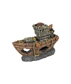 Barco pesquero 8x3x5cm