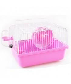 Jaula hamster rosa 24x18x17cm