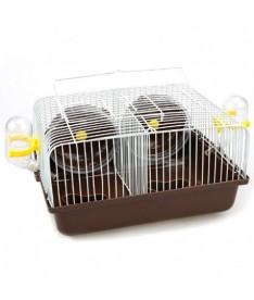 Jaula hamster doble marron 28x18x17cm